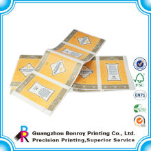 Guangzhou printer full color printing custom clothing label