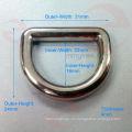 Fábrica profesional de alta calidad de aleación de zinc anillo D con palo