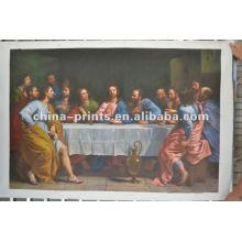 Pintura religiosa de la pintura de la gente del artista con el marco