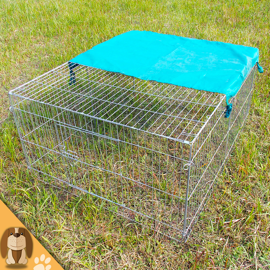 Galvaniserad Folding Rabbit Cage