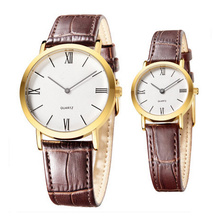 Water Resistant Japan Movement Couple Watches