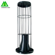 Dust filter bag cage with organic silicone coated