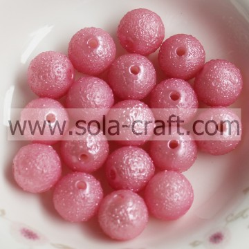 A Great Deal Pink 8MM Pearl Round Wrinkle Glass Spacer Beads Necklace Crystal Beads In Stock