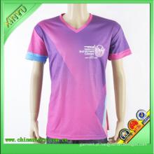 2016 T-shirt feito sob encomenda da sublimação das mulheres