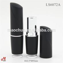 Boîte à récipient à lèvres vide noir avec vitrine couleur