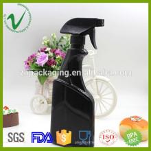 Botella de dispensador de jabón de plástico plano de alta calidad de 500 ml con pulverizador de bomba