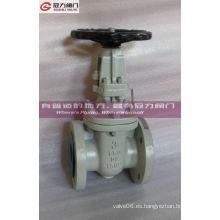 Válvula de puerta de hierro dúctil de recubrimiento epoxi