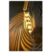 Pintura a óleo handmade do cavalo da arte da parede na reprodução da lona (AN-024)