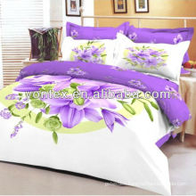 100%Cotton panel printed bed set duvet cover