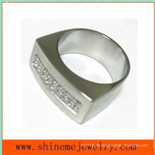 Körper Schmuck Mode Edelstahl CZ Ring (CZR2523)