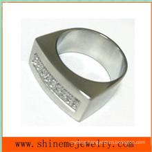 Body Jewelry Fashion Stainless Steel CZ Ring (CZR2523)