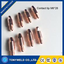 welding torch mig binzel m6 contact tip cucrzr