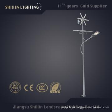 100W солнечный светодиодный уличный фонарь полюс