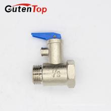 Válvula de seguridad de latón del calentador de agua de alta calidad de GutenTop válvula de alivio de presión roscada masculina forjada personalizada