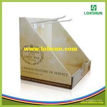 Cardboard PDQ Paper Counter Display Boxes with Hook
