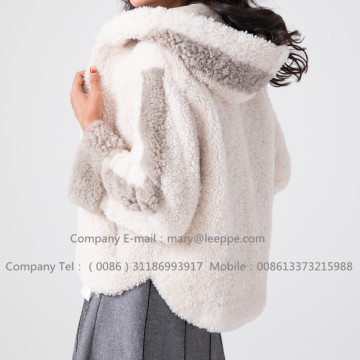 겨울 짧은 Merino Shearling Women Jacket