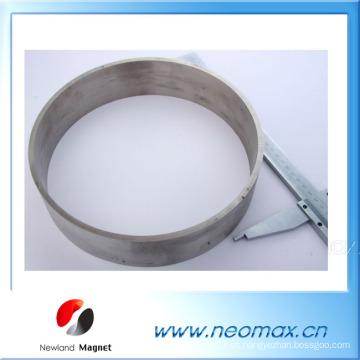 Imán de anillo SmCo para alta temperatura hasta 550 grados de aplicación 240 mm de diámetro
