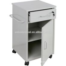 hospital epoxy power coating bedside locker with drawer