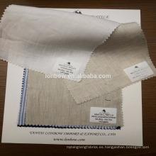 Hilo de servicio de stock de alta calidad teñido 100% telas de tela de lino