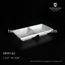 small porcelain two divided dishes white for restaurant