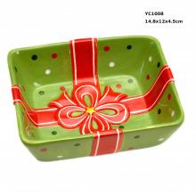 Керамическая тарелка подарка подарка для оптовой продажи