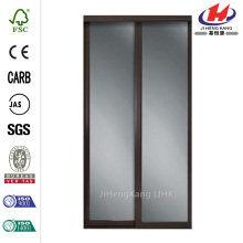 Majestic Dark Cherry Frame Sliding Door