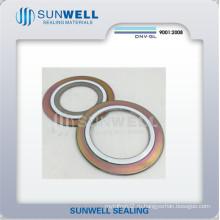 Материалы ASME PTFE Спиральные набивочные прокладки (Внешнее кольцо из углеродистой стали)
