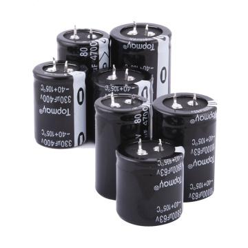 Etopmay Snap Popular en el Condensador Electrolítico de Aluminio Terminal 330UF 200V Tmce18 16-500VDC