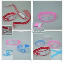 cinta médica de identificación de vinilo desechable para la madre y el bebé