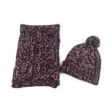 Мужские зимние унисекс теплый розовый шарф, Шапочка, комплект трикотажный шарф (SK164S)