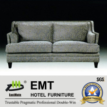 Nice Comfortable Double Sofa Set Hotel Wooden Sofa (EMT-SF38)