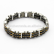 Gold member fashion bracelet,stainless steel bracelet jewelry