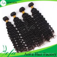 Extension de cheveux humains de vague profonde brésilienne de mode de vison de vison de Guangzhou