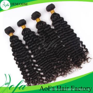 Forme a Guangzhou la extensión profunda brasileña del pelo humano de la onda del pelo de la Virgen del visón