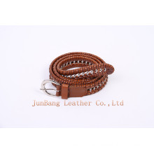 Fashionable Webbing Leather Belt with Nickle-Free Buckle for Men