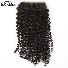 Bundle d'origine et de qualité Kenya Afro Kinky Curly Hair Weave avec fermeture de dentelle de haute qualité avec effet d'usure incroyable
