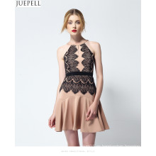 2016 nuevo paquete de verano cadera delgada delgada sexy sin tirantes de volantes vestido de encaje temperamento femenino vestidos de moda
