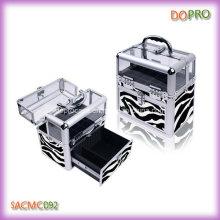Zebra Pattern Beauty Case for Nail Art (SACMC092)