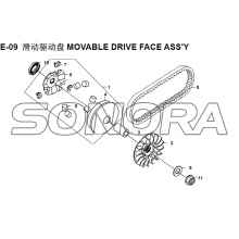 E-09 MOVABLE FACE ASSY XS150T-8 CROX Para SYM Spare Part Top Quality