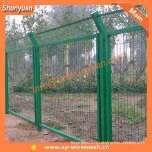 Фабрика Шэньси! Ограждение из проволочной сетки с ПВХ покрытием