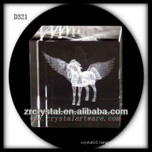 K9 3D Laser Subsurface Horse Inside Crystal Cube