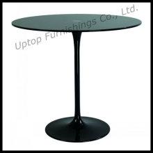 Elegante mesa de cristal negro Eero Saarinen Tulip (SP-GT348)