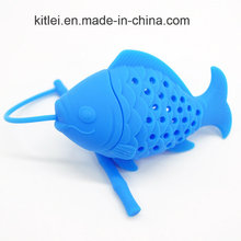 1 PC Fish Silicone Loose Tea Leaf Strainer Herbal Spice Infuser Filter Diffuser Strainer