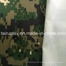 Military Camouflage Fabric of 100% Polyester Oxford with White Coated