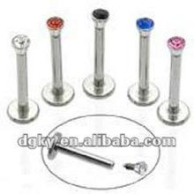Labio piercing piercing de joyería labret stud diamante