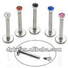 Lip body piercing jewelry labret stud diamond