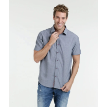 Повседневная мужская рубашка с короткими рукавами из 100% хлопка