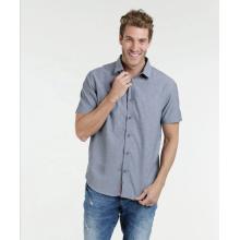 100% cotton fabric short sleeve causal man shirt