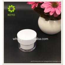 La alta calidad caliente de la venta 30g 50g compone el tarro plástico cosmético vacío coloreado transparente que embala