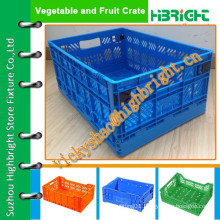 strong and durable foldable plastic crate with reinforced lock